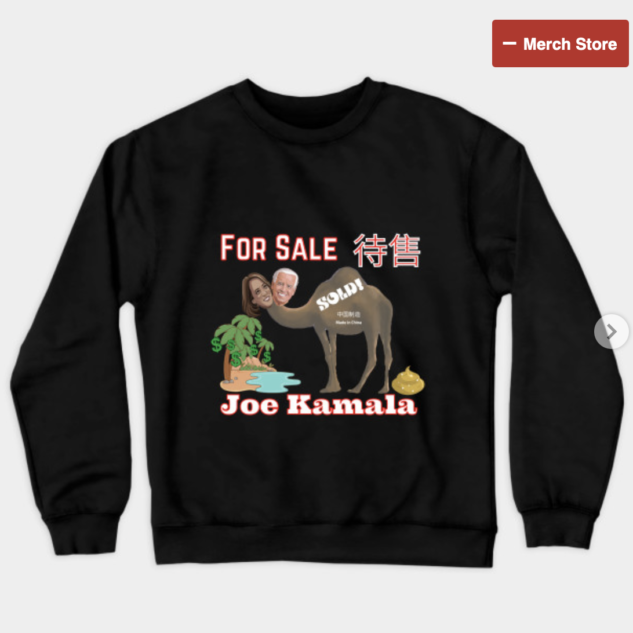 Joe Kamala For Sale Crewneck Sweatshirt
