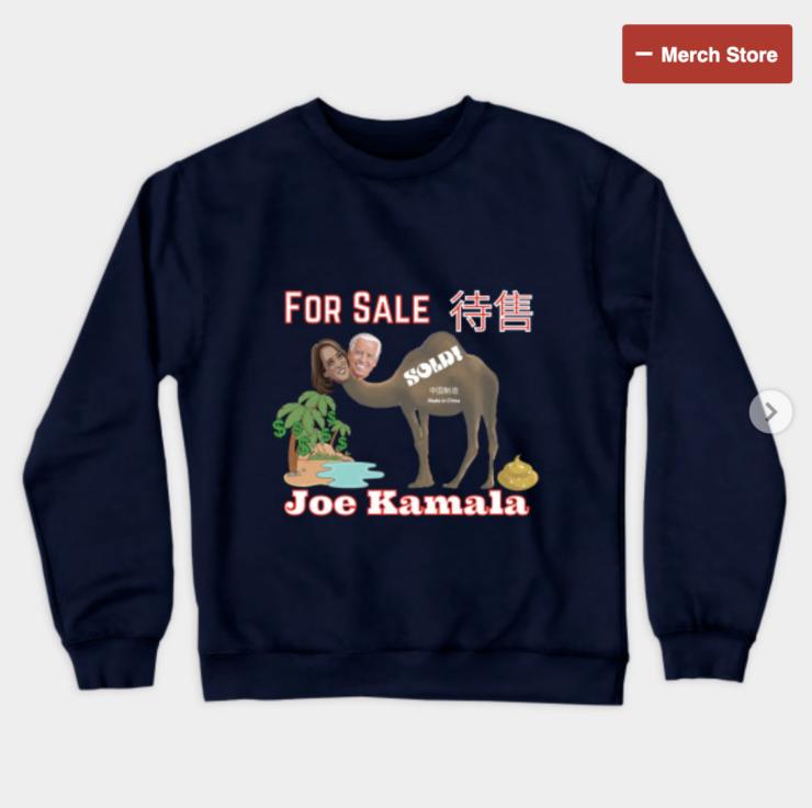 Joe Kamala For Sale Crewneck Sweatshirt