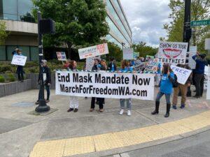 Anti Mask Rally Seattle